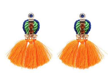 Orange Royal Tassel earrings