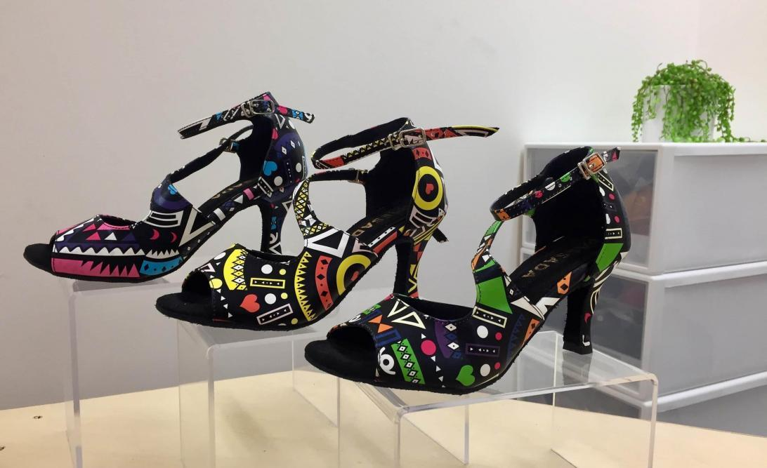 Colours of Wakanda Latin Dance Shoes