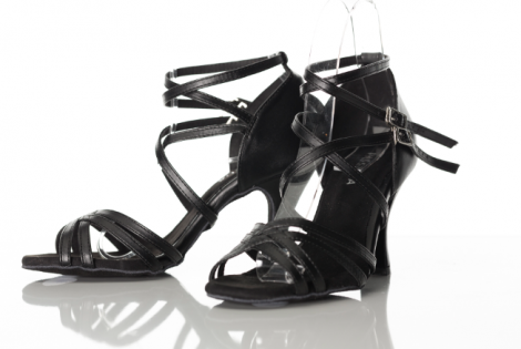 Latin Dance Shoes Double ankle straps